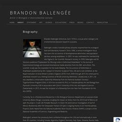 Biography - BRANDON BALLENGÉE