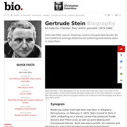 Gertrude Stein - Biography - Art Collector, Publisher, Poet, Author, Journalist - Biography.com