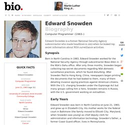 Edward Snowden - Biography - Computer Programmer