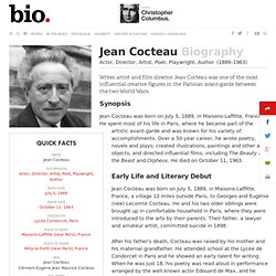 Jean Cocteau - Biography - Actor, Director, Artist, Poet, Playwright, Author - Biography.com