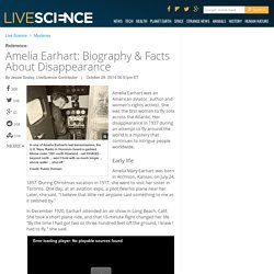Amelia Earhart: Biography & Facts About Disappearance