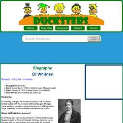 Biography: Eli Whitney