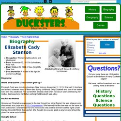Biography for Kids: Elizabeth Cady Stanton