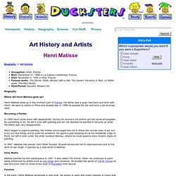 Biography: Henri Matisse Art for Kids