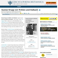 biography - German diplomat and industrialist