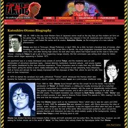 Biography of Katsuhiro Otomo (大友克洋)