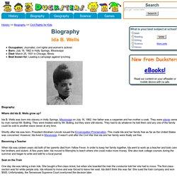 Biography for Kids: Ida B. Wells