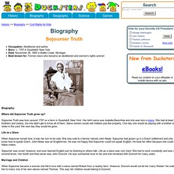 Biography for Kids: Sojourner Truth