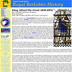 RBH Biography: King Alfred the Great (849-899)