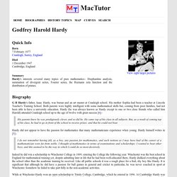 G H Hardy (1877 - 1947) - Biography - MacTutor History of Mathematics