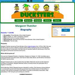 Biography for Kids: Margaret Thatcher