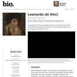 Leonardo da Vinci - Biography - Writer, Mathematician, Inventor, Artist