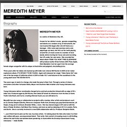 Biography | Meredith Meyer