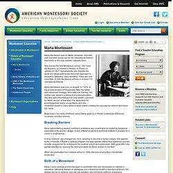 Biography of Maria Montessori