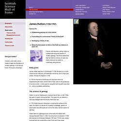 James Hutton biography - Science Hall of Fame