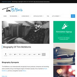 Biography Of Tim McMorris