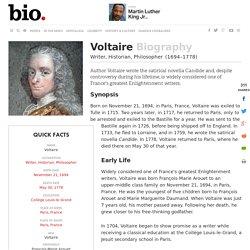 Voltaire - Biography - Writer, Historian, Philosopher