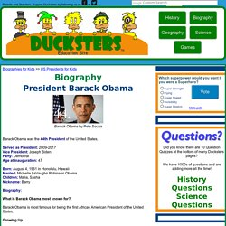 Biography of President Barack Obama for Kids