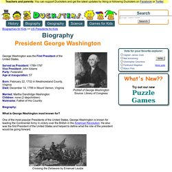 Biography of President George Washington for Kids