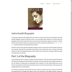 Biography Review: Life of Indira Gandhi by Katherine Frank