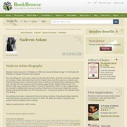 Nadeem Aslam author bio