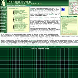 The House of Alpin Feature Page on Undiscovered Scotland