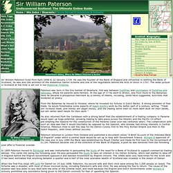 Sir William Paterson: Biography on Undiscovered Scotland