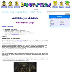 Biography: Vincent van Gogh for Kids