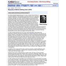 william golding biography essays