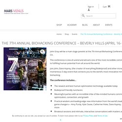 The 7th Annual Biohacking Conference - Beverly Hills (April 16-18, 2021) - MarsVenus.com