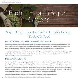 Biohm Health Super Greens