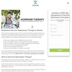 Bioidentical Hormone Replacement Therapy for Women - assure