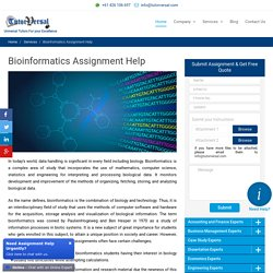 Online Bioinformatics Assignment