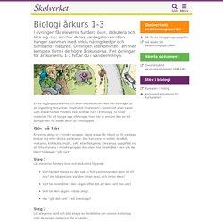 Biologi årkurs 1-3 - undervisningsstöd