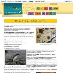 Biología: Ciencia que estudia a los seres vivos