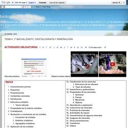 biologia2bachcamp: TEMA 4. 1º BACHILLERATO. CRISTALOGRAFÍA Y MINERALOGÍA