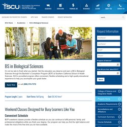 Bachelor of Science in Biological Sciences at SCUHS