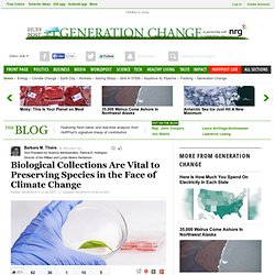Biological Collections Are Vital to Preserving Species in the Face of Climate Change