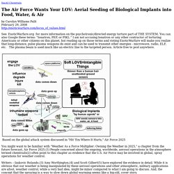 The Air Force Wants Your LOV: Aerial Seeding of Biological Implants into Food, Water, & Air by Carolyn Williams Palit