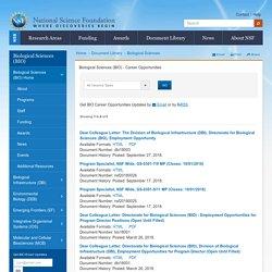 Biological Sciences (BIO) - Career Opportunities