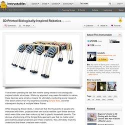 3D-Printed Biologically-Inspired Robotics
