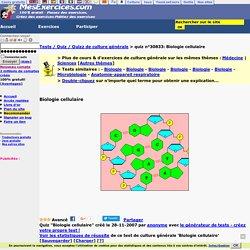 Biologie cellulaire-Quiz