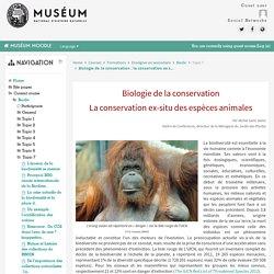 Biodiv: Biologie de la conservation : la conservation ex situ des espèces animales