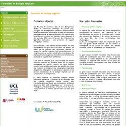 Biologie végétale- formation universitaire en ligne