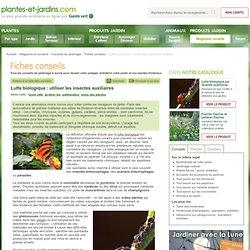 Lutte biologique : utiliser les insectes auxiliaires