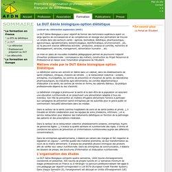 AFDN: Le DUT Génie biologique-option diététique
