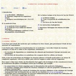 Cours molecule eau liaison molecule biologique COURS Enseignement recherche Biochimie enzymologie bioinformatique Emmanuel Jaspard Universite Angers