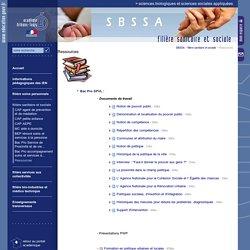 Sciences biologiques et sciences sociales appliquées:Ressources