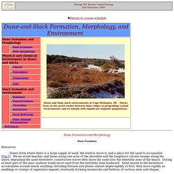 Biology 561 Barrier Island Ecology Fall Semester