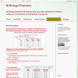IB Biology/Chemistry: Error/Uncertainty